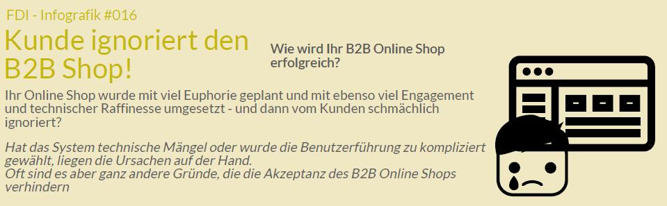 B2B Online Shop Akzeptanz